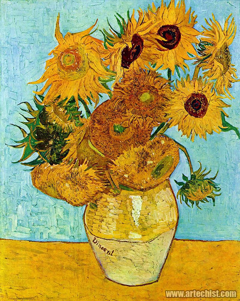 向日葵;Still Life - Vase with Twelve Sunflowers